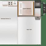The General S3 Soft Floor Camper Trailer - Floor Plan