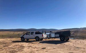 Platinum Camper out in Desert