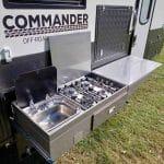 Commander Hybrid Off-Road Camper Trailer - Stainless Steel Kitchen