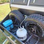 Commander Hybrid Camper Trailer - Spare Wheels Storage Area