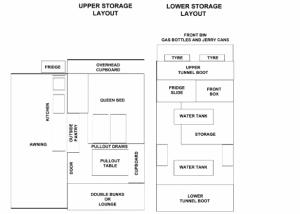 Commander Hybrid Off-Road Camper Trailer - Floor Plan