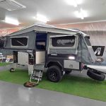 The Discovery Forward Fold Camper Trailer - Main Tent Open Side View