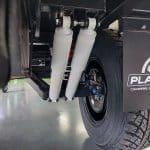 Independent, Dual Shock Suspension - Platinum Campers