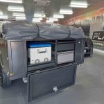 The Warrior S3 Off-Road Camper Trailer - Tailgate Kitchen Area