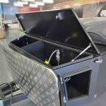 The Warrior S3 Camper Trailer - Gas and Jerry Can Storage Area