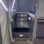 The Warrior S3 Camper Trailer - Open Step Through Area Storage