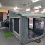The Warrior S3 Camper Trailer - Large Open Tent