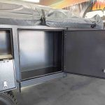 The Warrior S3 Camper Trailer - Side View - Side Storage Compartment