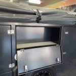 The Warrior S3 Camper Trailer - Side View - Small Side Storage Compartment