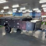The Warrior S3 Camper Trailer - Side View - Closed Storage
