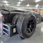 The Warrior S3 Camper Trailer - Spare Wheels Packed Up - Close