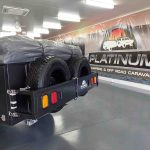 The Warrior S3 Camper Trailer - Spare Wheels Closed