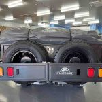 The Warrior S3 Camper Trailer - Spare Wheels Close Up