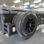 The Warrior S3 Camper Trailer - Spare Wheels Packed Up